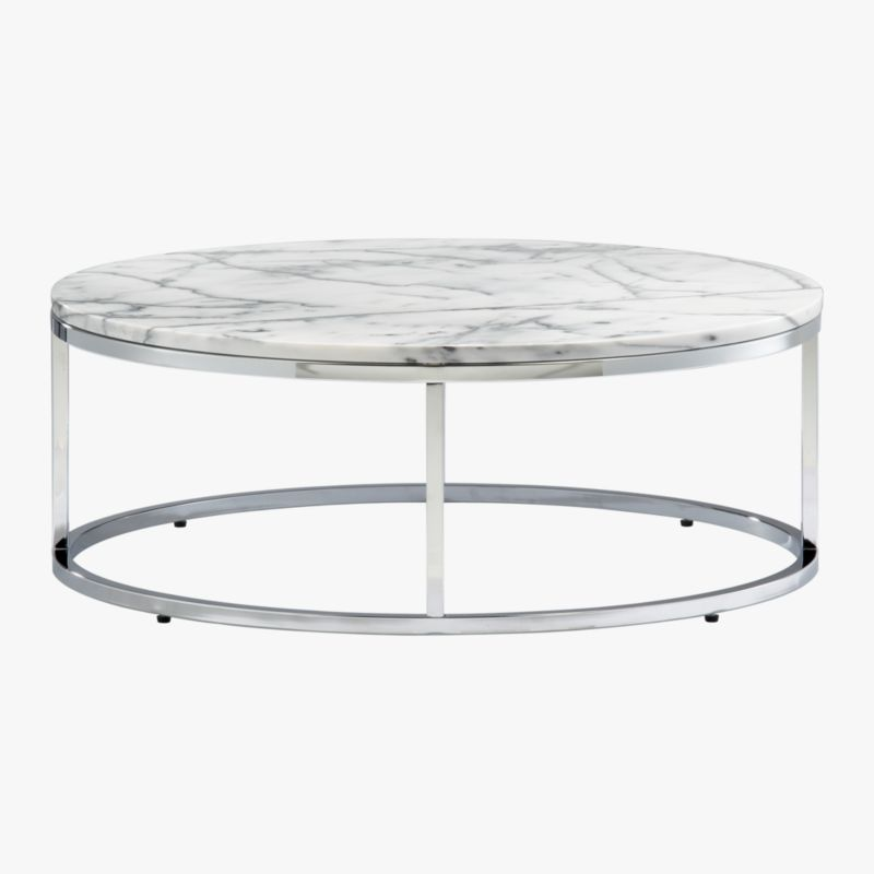 smart round marble top coffee table : CB2