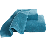smith blue-green bath towels