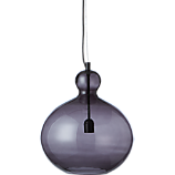 smoke glass pendant light