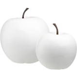 2-piece white snow apple set