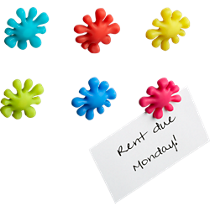 splat magnets set of six