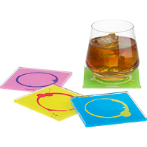 stained coasters set of four