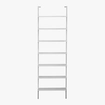 stairway 96&quot; wall mounted bookcase