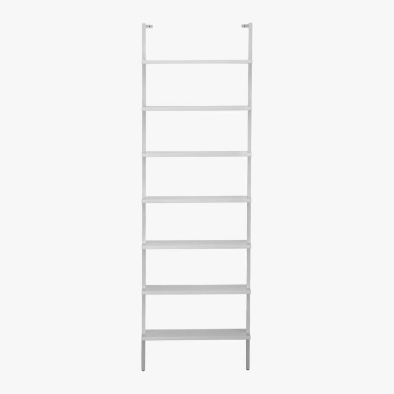 "stairway 96"" wall mounted bookcase"