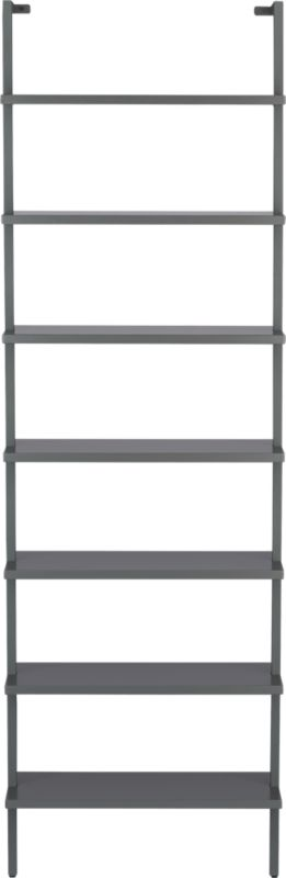 stairway grey wall mounted bookcase