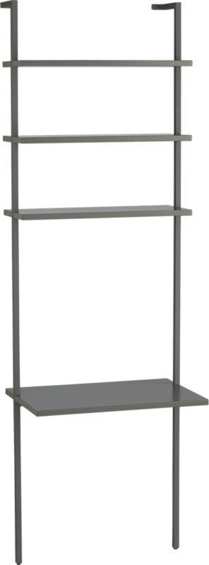stairway grey desk