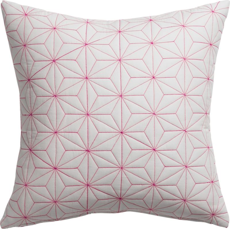 "starlit embroidery 20"" pillow with down-alternative pillow"