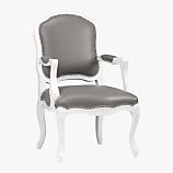 stick around white/grey arm chair