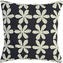 "stitched flower 16"" pillow"