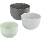 3-piece stoneware mixing bowl set