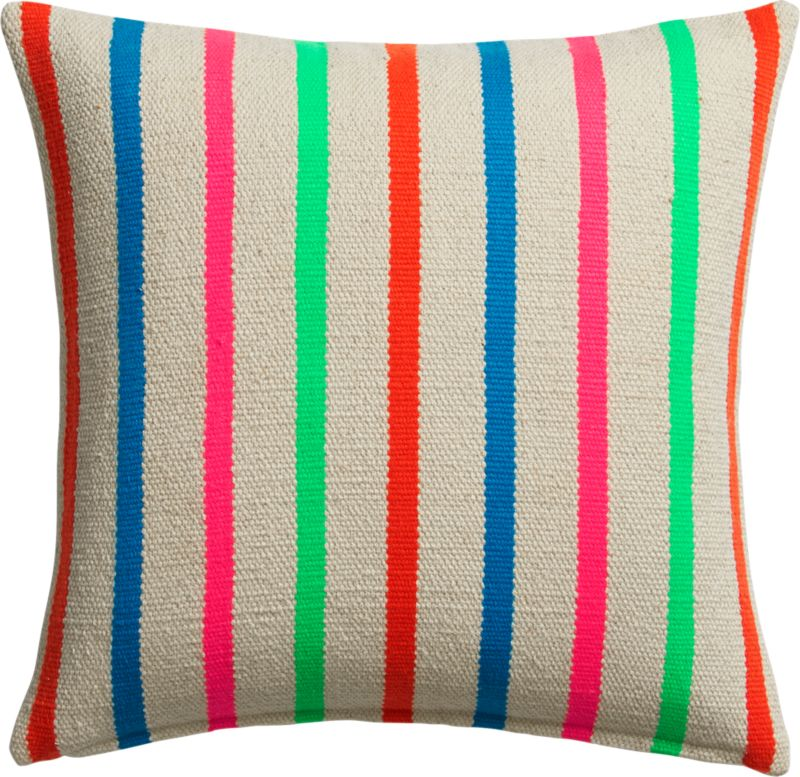 "stripe riot 18"" pillow with feather-down insert"