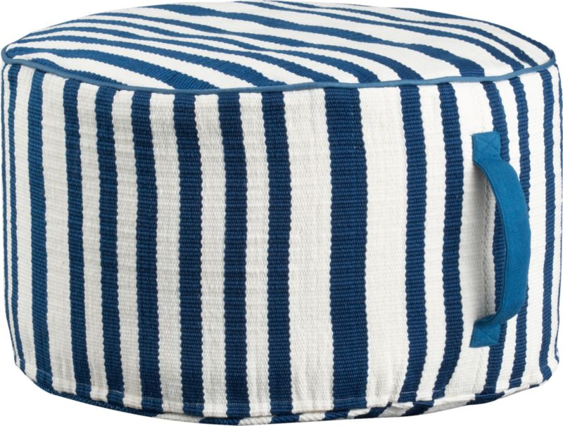 stripe woven swoon outdoor pouf