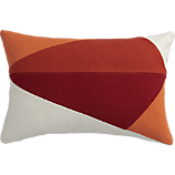 "sunny acres 18""x12"" pillow with feather-down insert"