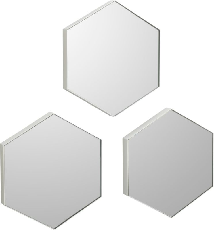 "set of 3 swarm 13""x15"" mirrors"