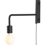 swing arm black wall sconce