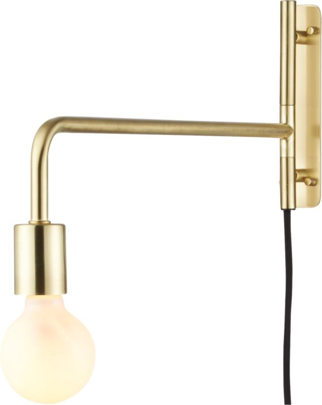 Cb2 Repeat Wall Sconces : swing arm brass wall sconce CB2