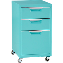 TPS aqua 3-drawer filing cabinet