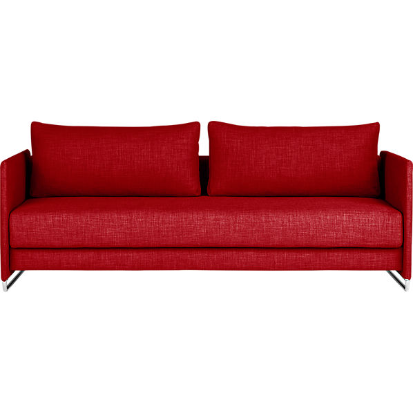 tandom red sleeper sofa red cb2 With red sectional sofa with sleeper