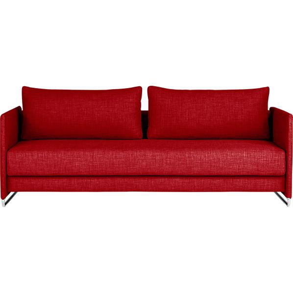 tandom red sleeper sofa red cb2
