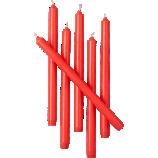 neon peach taper candle