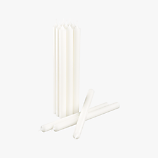 set of 12 white taper candles