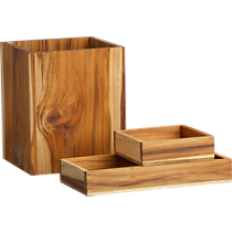 teak bath accessories
