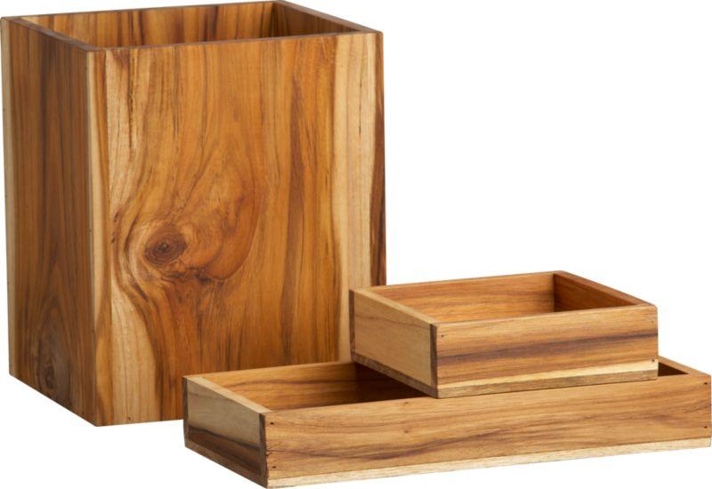 Bathroom Accessories Wood Acacia Handcrafted Wood Bath