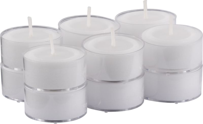 clear-cupped tealight candles set of 12