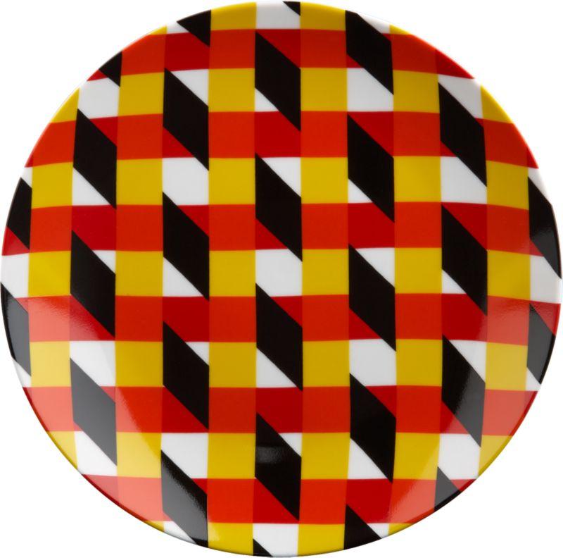 techno crazy stripe plate