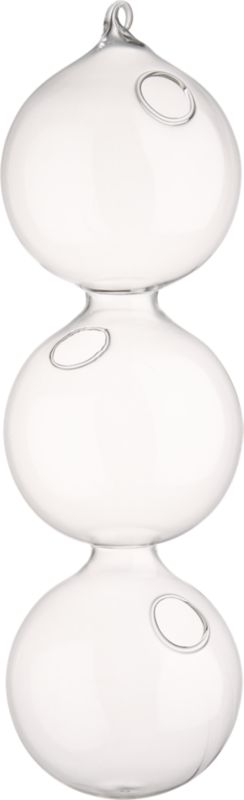 3-ball hanging vase