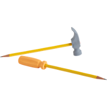 2-piece tool eraser set