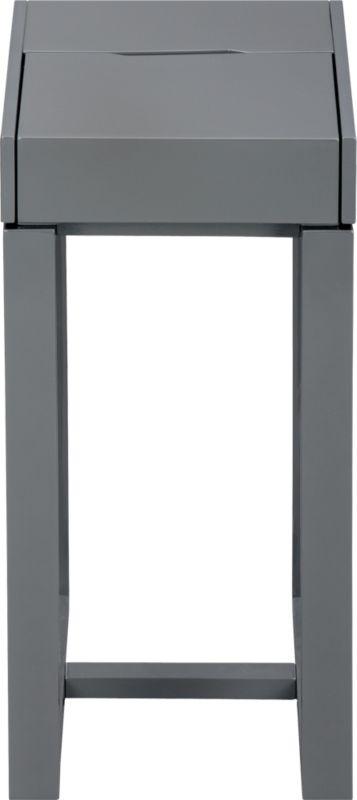 torino grey side table
