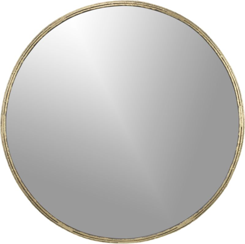 "tork brass 30"" dripping mirror"
