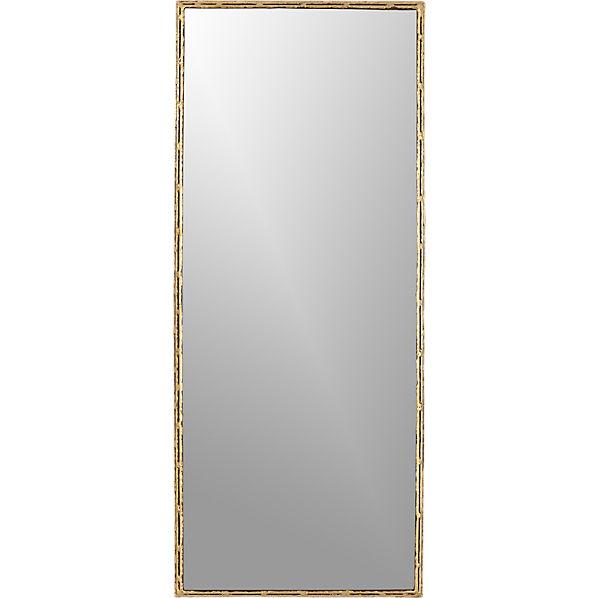 Tork brass 20 x48 dripping mirror cb2 for Mirror image