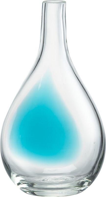 touch of aqua vase