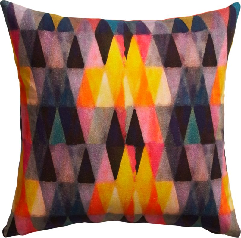 "triangle haze 18"" pillow with down-alternative insert"