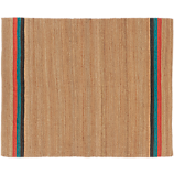 tri stripe jute rug 8'x10'