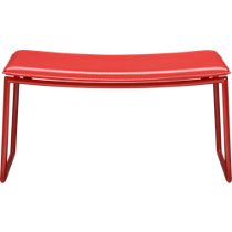triumph red ottoman