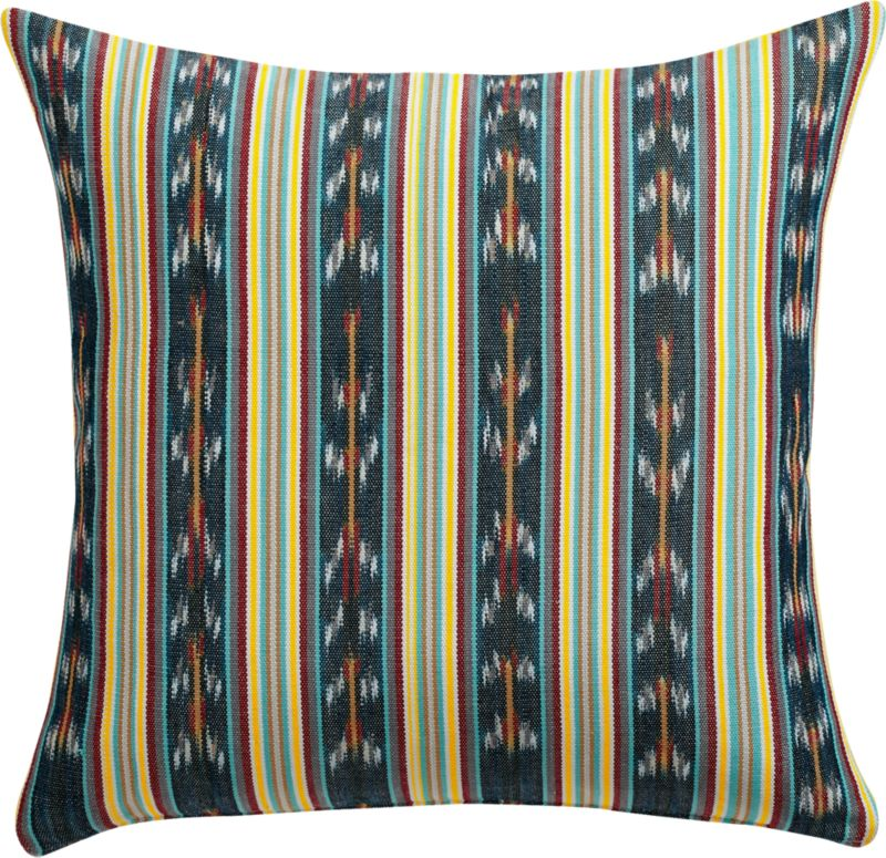 "tulate stripe 18"" pillow with feather-down insert"