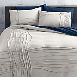 twisted silver grey full/queen duvet