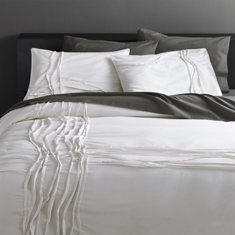 twisted white king duvet