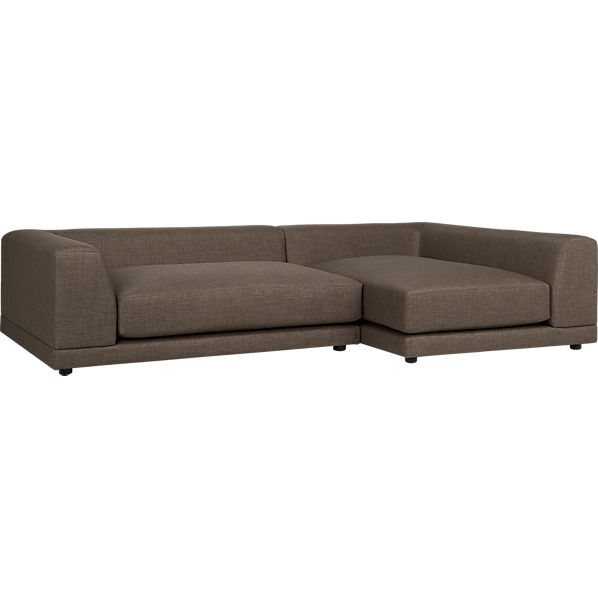 Uno 2 piece sectional sofa bark cb2 for Uno 2 piece sectional sofa