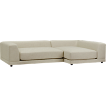 uno cream puff 2-peice sectional sofa