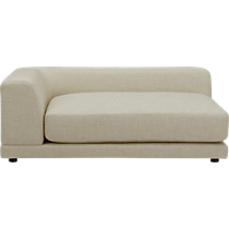 uno cream puff left arm sofa