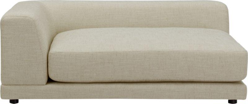 uno cream puff left arm sofa