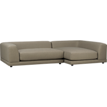 Modern sectional sofas sectional couches cb2 for Uno 2 piece sectional sofa