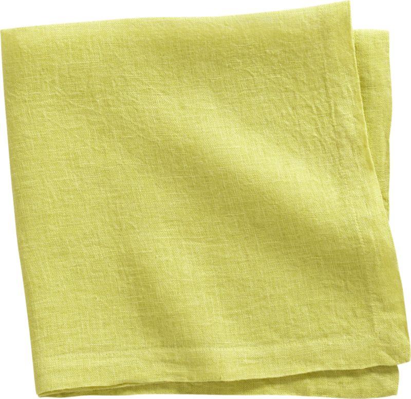 uno chartreuse linen napkin