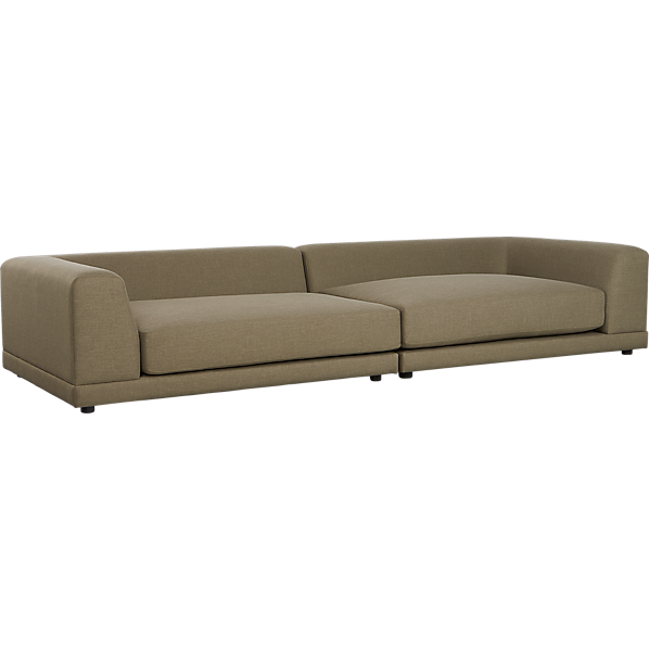 Ditto grey sectional sofa grey cb2 for Uno 2 piece sectional sofa