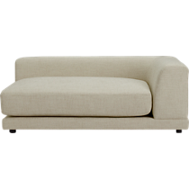 uno cream puff right arm sofa