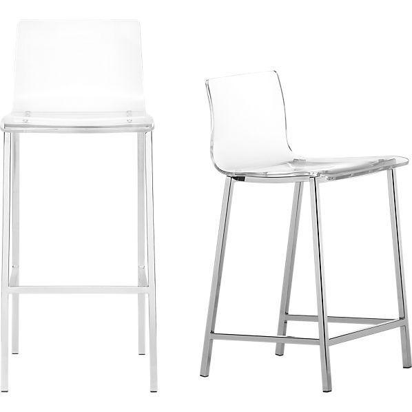 Counter Height Acrylic Stools : vapor acrylic bar stools CB2